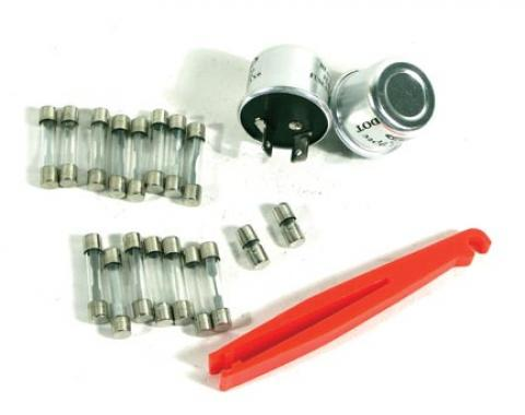 Corvette Fuse & Flasher Kit, 22 Piece, 1968-1969