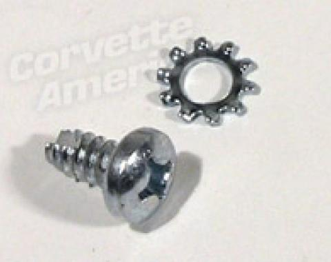 Corvette Coil Resistor to Firewall Screw, 1961-1967