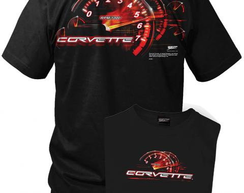Corvette shirt - Redline - C5 Tach Speedo