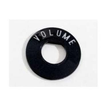 Chevy Radio Volume Insert, Plastic, 1955-1956