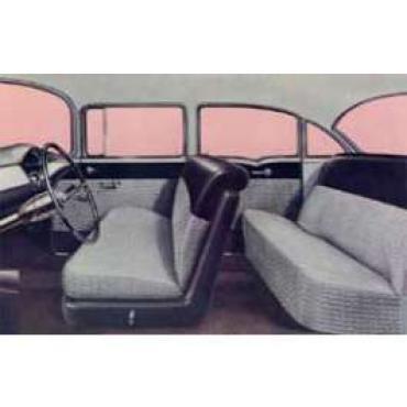 Chevy Preassembled Door & Quarter Interior Panel Kit, 150 4-Door Sedan, 1955