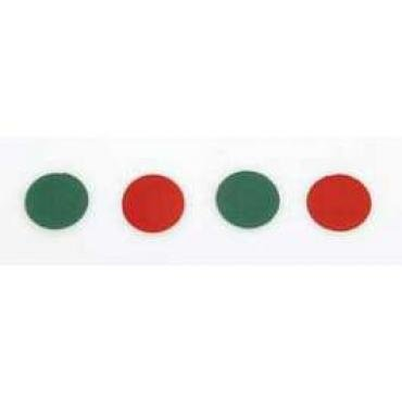 Chevy Dash Indicator Light Disc Set, 1955-1956