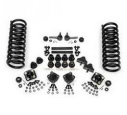 Chevy Front End Rebuild Kit, With Rack & Pinion, 2 Drop Springs & Urethane Bushings, 1955-1957