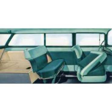 Chevy Preassembled Door & Quarter Interior Panel Kit, 150 2-Door Wagon, 1955