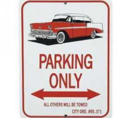 1956 Hardtop Parking Only Sign