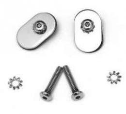 Chevy Door Channel Hardware, Stainless Steel, With Button Head Bolts, Hardtop Or Convertible, Nomad, 1955-1957
