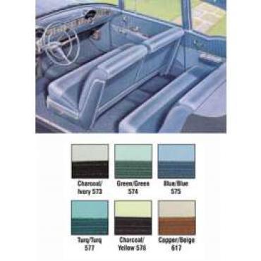 Chevy Preassembled Door & Quarter Interior Panels, 2-Door Sedan, Bel Air, 1956
