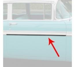 Chevy Front Door Molding, Bel Air, Left Upper Or Right Lower, For 2-Door, Show Quality, 1956