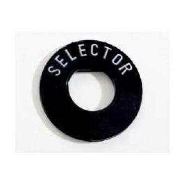 Chevy Radio Selector Insert, Plastic, 1955-1956