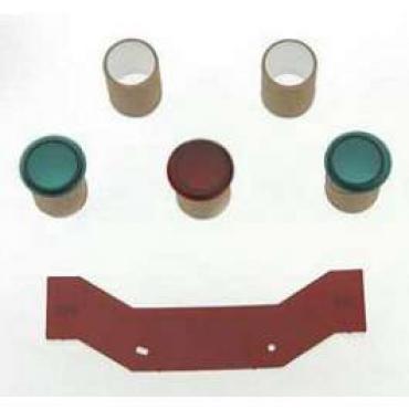 Chevy Instrument Cluster Indicator Light Lens Set, 1955-1956
