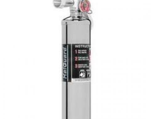 Fire Extinguisher, H3R Halguard, Chrome, 2.5 Lb.