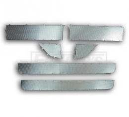 Chevy Interior Door Panel Trim, Lower Waffle Stainless, Nomad, 1955