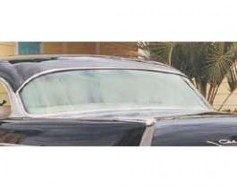 Chevy Rear Glass, Tinted, 2-Door Hardtop, 1955-1957