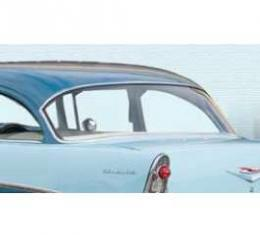 Chevy Rear Glass, Clear, 2 & 4-Door Sedan, 1955-1957