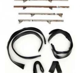 Chevy Side Glass Setting Kit, With Channels, 4-Door Sedan &Wagon, 1955-1957
