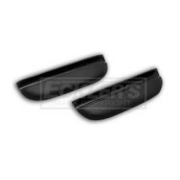 Chevy Door Armrests, 150 & 210, Black, 1957