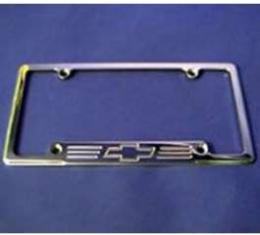 Bowtie Polished Billet License Frame