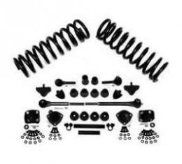 Chevy Front End Rebuild Kit, With Coil Springs & Factory Power Steering, 1955-1957