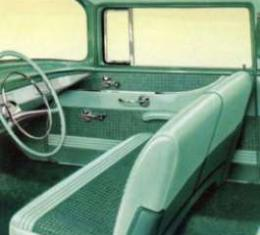 Chevy Seat Cover, Front, 2-Door Sedan, 1957 Delray Style, 1955-1956