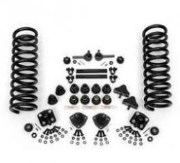 Chevy Front End Rebuild Kit, With Rack & Pinion, Stock Springs & Urethane Bushings, 1955-1957