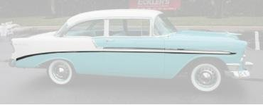 Chevy Side Molding Kit, Bel Air, 2-Door, Show Quality, 1956