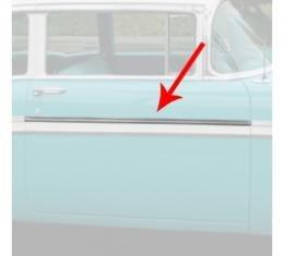 Chevy Front Door Molding, Bel Air, Left Lower Or Right Upper, For 2-Door, Show Quality, 1956