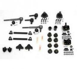 Chevy Front End Rebuild Kit, With Urethane Bushings & Without Coil Springs, 1955-1957