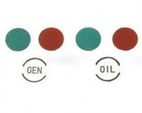 Chevy Dash Indicator Light Lens Set, 1957