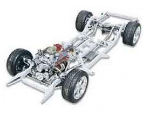 Chevy Upgrade Chassis, With Suspension, 2 & 4-Door Wagon, Nomad, Art Morrison, 1955-1956