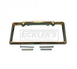 Chevy License Plate Frame, Gold, 1957