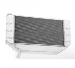 Chevy Cross-Flow Radiator, Polished Aluminum, LS1, LS2, LS3& LS6, Griffin, 1955-1957