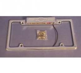 Bowtie Polished Billet Lighted License Frame