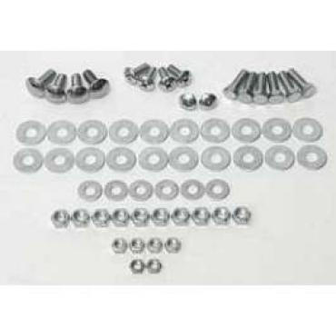 Chevy Bumper Hardware Kit, Front, 1955-1956