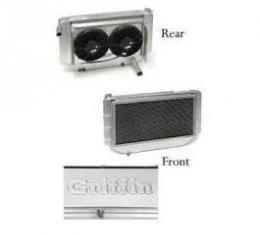 Chevy Cross-Flow Radiator Kit, Aluminum, Griffin, 1955-1957