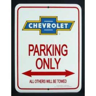 Chevy Bowtie Parking Only Sign