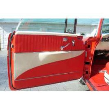 Chevy Preassembled Door Panels, With Armrests Installed, Bel Air Nomad, 1956
