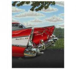1957 Chevy De-Tail Print By Hugo Prado