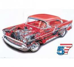 1957 Chevy Cutaway Poster
