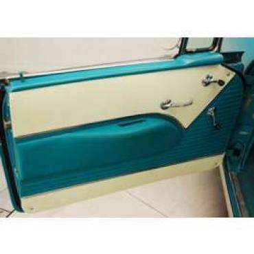 Chevy Preassembled Door Panels With Armrests Installed, Bel Air Convertible, 1955