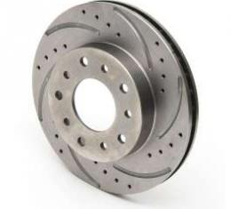Chevy Rear Disc Brake Rotor, Right, Drilled & Slotted, 1955-1957