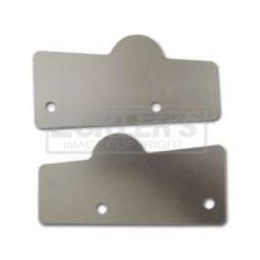 Chevy Lower Tailgate Hinge Covers, Nomad Or Wagon, 1955-1957