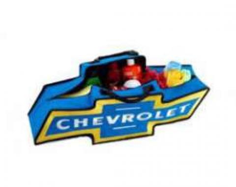 Chevy Canvas Bag, Chevrolet Bowtie, Blue With Yellow Border