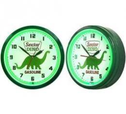 Neon Clock, Dino Sinclair Gasoline, 20