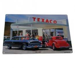 Chevy Wall Sign, Metal, Texaco Sky Chief, 1955