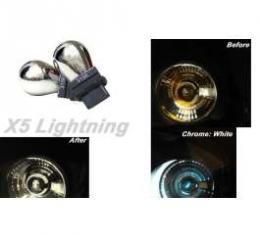 Light Bulbs, 3156, Chrome X5 Lightning White Silver Stealth