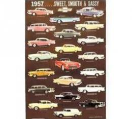 1957 Classic Chevy Color Poster
