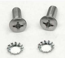 Chevy Convertible Top Latch Handle Screws, 1955-1957