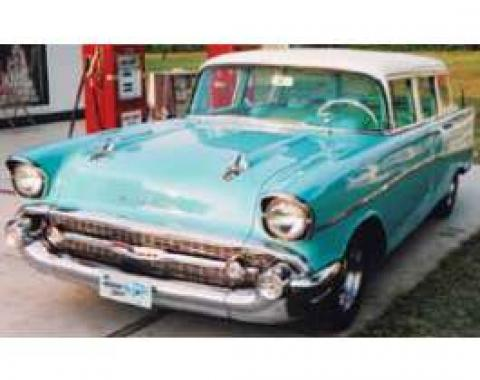 Chevy Side Glass Set, Clear, 4-Door Wagon, 1955-1957