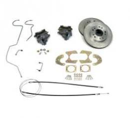 Chevy Disc Brake Kit, Rear, For 9 Ford Rear End, 1955-1957