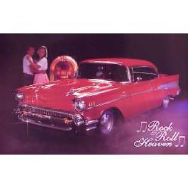 Chevy 1957 Rock & Roll Heaven Poster